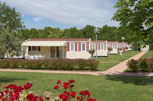 A manufactured housing community