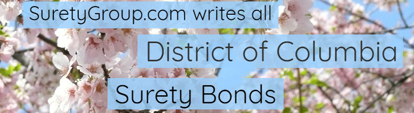 SuretyGroup.com writes all District of Columbia surety bonds