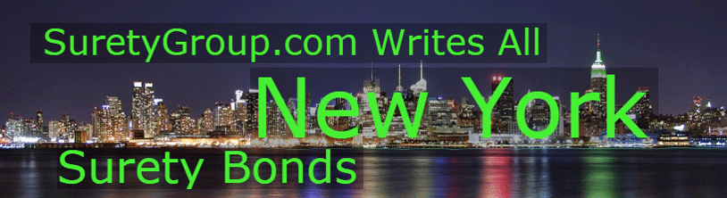 SuretyGroup.com writes all New York surety bonds