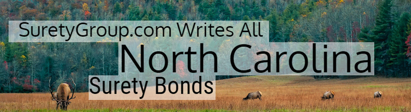 SuretyGroup.com writes all North Carolina surety bonds