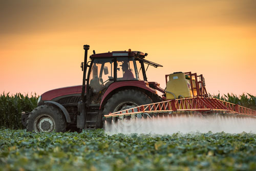 Pesticides are applied to a farm in Kansas