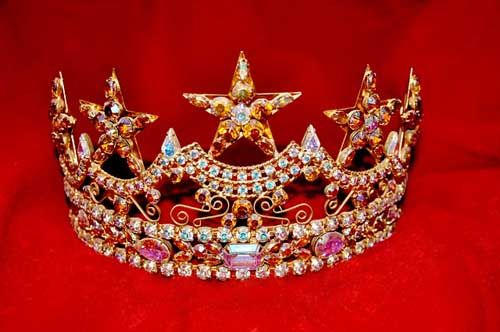 A beauty pageant crown