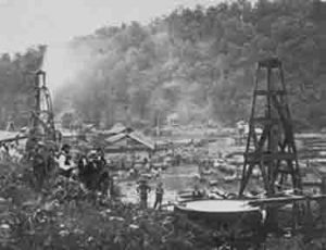 Oil wells in Pennsylvania.