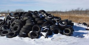 A pile of tires can cause environmental issues.